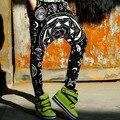 #1912 pantalones harem flojos del verano mujeres gota entrepierna pantalones hip hop pantalones punk rock estilo harajuku sportswear chándal de las mujeres