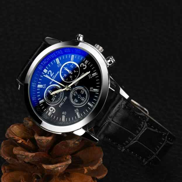 xiniu Vintage Design Watch For Men PU Leather Band Three Eyes Analog Alloy Quartz Wrist Watch relogios masculino hombre Clock