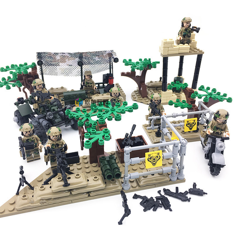 LOZ Enlighten Military Educational Building Blocks Toys For Children Gifts Army Cars Planes Weapon Compatible With Legoe enlighten 1406 8 in 1 combat zones military army cars aircraft carrier weapon building blocks toys for children