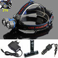 4000Lumens LED Headlight 2xCREE XM-L T6 Headlamp 3 Modes 2T6 Head torch lamp+2x18650 Battery Charger