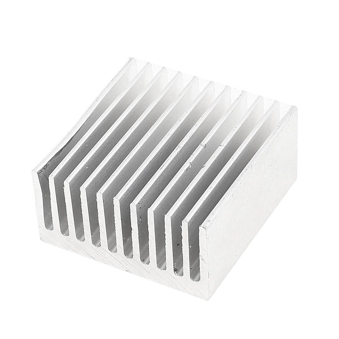 Silver Tone Aluminum Cooler Radiator Heat Sink Heatsink 40x40x20mm free ship 2pcs copper cooling heatsink instrument platform chip radiator 40 40 11mm heat sink radiator for electronics pcb board