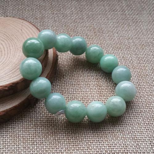 Бесплатная доставка 435 сертифицирован Класс естественный зеленый камень жадеит браслет