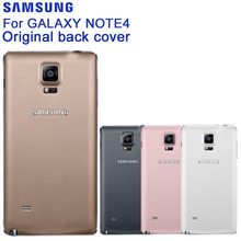 Samsung Original Battery Rear Case For Galaxy Note4 N9100 N910H Note 4 Phone Backshell Back Cover Cases