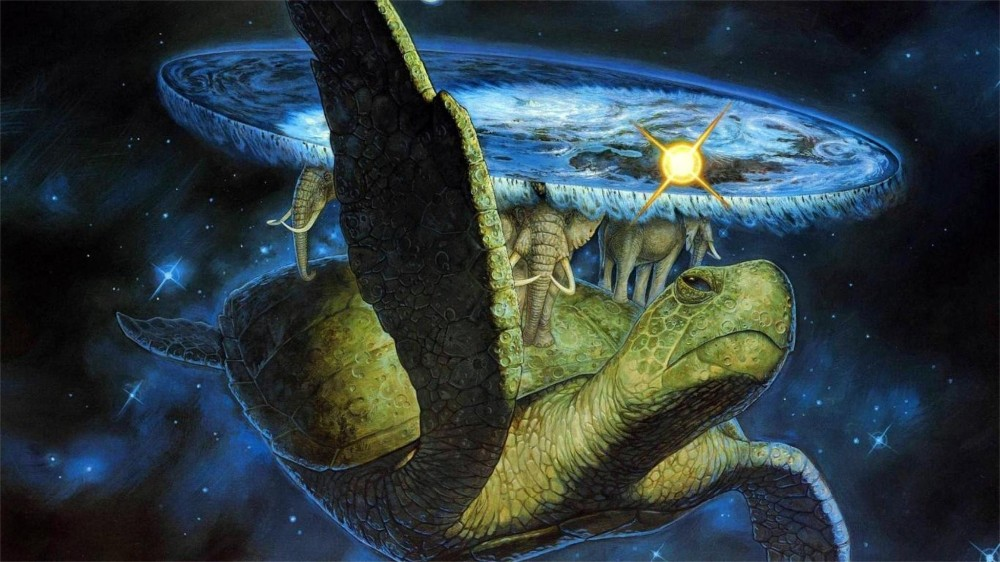 Terry Pratchett Discworld art silk Poster