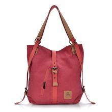 2016 Women Messenger Bag Fast shipping Fashion Female Handbag Lady Girls Casual Canvas Handbag Red Shoulder Bag Multifunctional