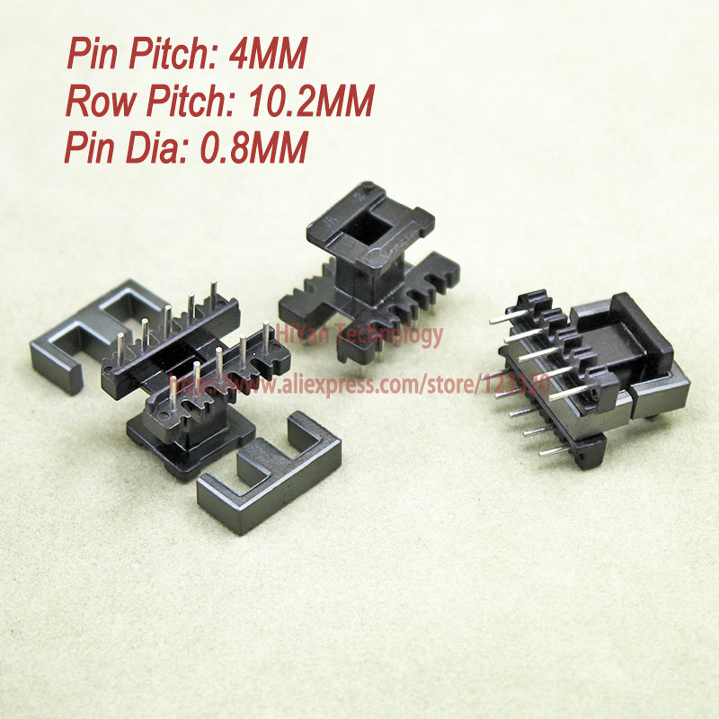 20sets/lot EE19 PC40 Ferrite Magnetic Core and 5 Pins + 5 Pins Top Entry Plastic Bobbin Customize Voltage Transformer 20sets lot ee16 pc40 ferrite magnetic core and 5 pins 5 pins side entry plastic bobbin customize voltage transformer