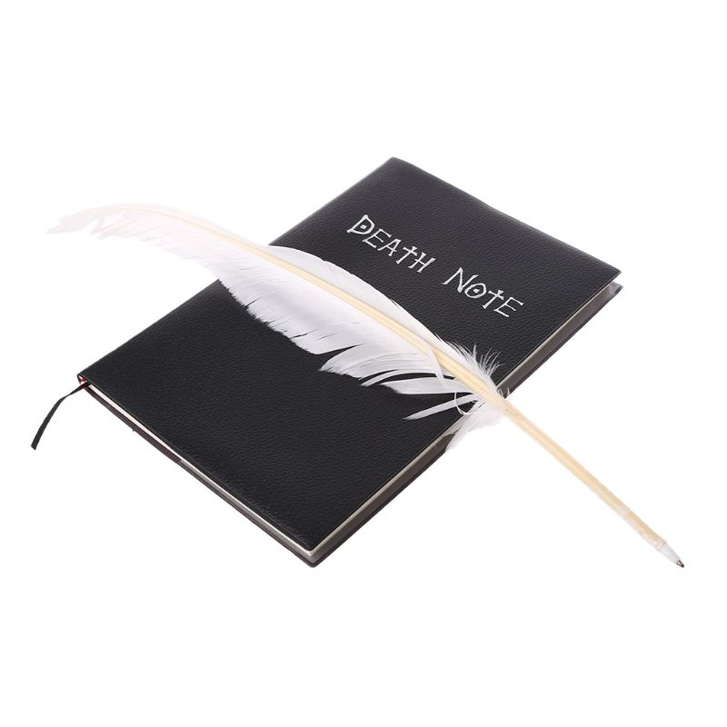 New Death Note Cosplay Notebook & Feather Pen Book Animation Art Writing Journal Jy18 19 Dropship