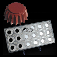 Magnet Transparent PC Polycarbonate Pudding Jelly Flower Pots Round Chocolate Transfer Formwork Baking Mold Moldes De