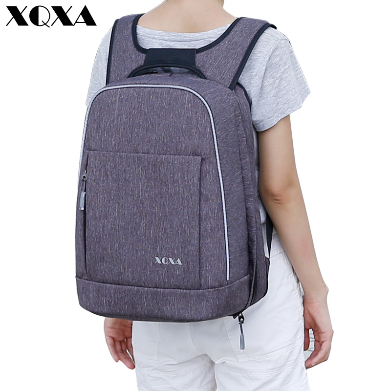 XQXA Anti-theft Women Laptop Backpack 15.6 Inch Rucksack SchooL Bag Travel Waterproof Backpack Men Notebook Computer Bagpack 14 15 15 6 inch flax linen laptop notebook backpack bags case school backpack for travel shopping climbing men women
