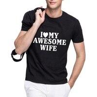 Başar Loo Gösterisi Summen Stil seviyorum Eşi Komik erkek Tee Casual T-shirt MB-AM020