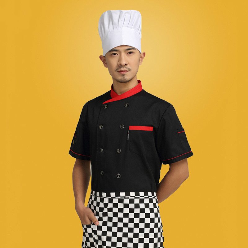 aliexpresscom buy new arrival hotel chef wear short sleeved kitchen restaurant cook uniform veste de cuisine plus size cook uniform 18 from reliable - Veste De Cuisine Orange