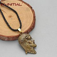 God Jesus Head Infinity Cross Necklaces Charm Pendants for Women Men Christian Lucky Jewelry Wholesale Rope Necklace Jewelry(China)