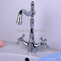 free shipping high quality brass material cross handle cold and hot chrome bathroom basin kitchen.jpg 200x200