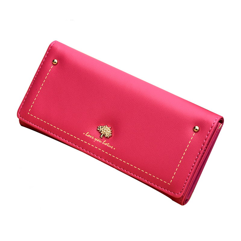 Wallet Leather Women Purse Wallet Female Long Card Holder Purse High Quality Multi Color Clutch Bag Fashion Cute Clamp For Money 2016 new high quality ladies purse fashion women bifold leather clutch card holder purse long handbag female long section wallet