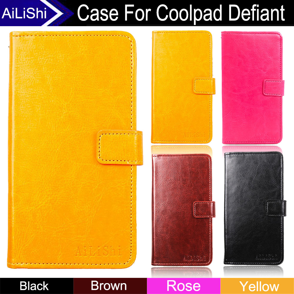 AiLiShi Factory Direct! Case For Coolpad Defiant Luxury Flip Top Quality Leather Case Cover Phone Bag Wallet Card Slot+Tracking