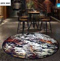 Creative Fashion Pandora Mysterious Planet Round Carpet Round Mat Desk Computer Chair Rug Pad Non Slip