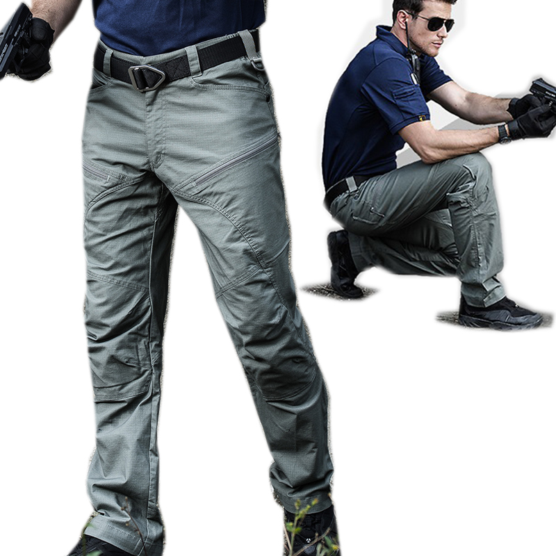 2019 New Good Quality High End Tactical Pants Men Multi-pocket Anti Scratch Water Proof Trousers Cargo Pants Training Overalls