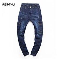Jeans 2017 Nieuwe Mode Merk Top Kwaliteit Oversized Jeans mannen Casual Jeans Broek Mannen Mode-ontwerper Broek Grey Jeans