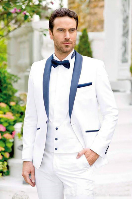 Men's Suit Wedding-Dress Coat--Pants Groom Two-Piece White Latest Swallowtail Lang