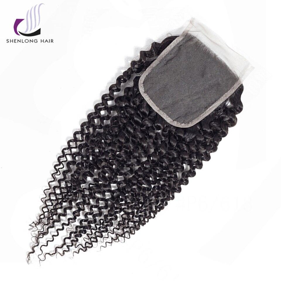 SHENLONGHAI Βραζιλιάνικο Kinky Curly μαλλιά Lace - Ανθρώπινα μαλλιά (για μαύρο) - Φωτογραφία 1