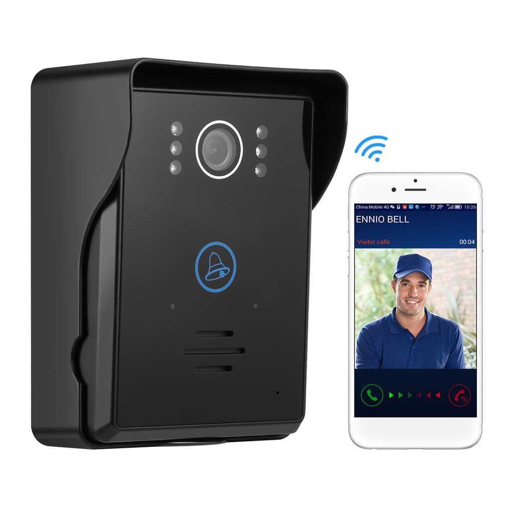 Touch Key Motion Detection Video Eye Doorbell Intercom with 2 Dingdong Doorbells ios/Android App Support Wifi Video Door PhoneTouch Key Motion Detection Video Eye Doorbell Intercom with 2 Dingdong Doorbells ios/Android App Support Wifi Video Door Phone
