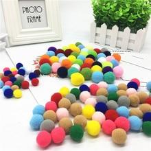 100pcs/lot 20mm Soft Pom Poms Balls Fur Plush For Wedding Decoration Handcraft DIY Kids Toys Accessories