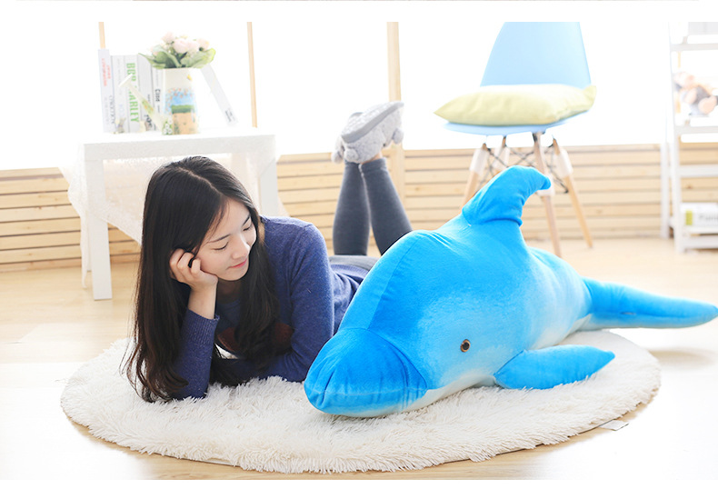 big plush blue dolphin toy lovely creative high quality dolphin doll gift about 120cm big plush whale toy big head white foam dolphin doll pillow gift about 70cm