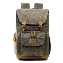 Men Photo Backpack Batik Canvas Waterproof Camera Photography Bag Outdoor Wear-resistant Large for Fujifilm Nikon Canon Sony