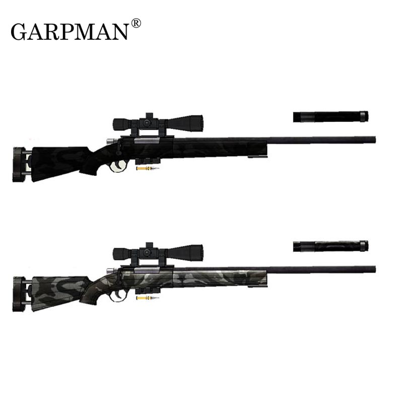 120cm M24 Sniper Rifle 1:1 3D Paper Model Weapon DIY Papercraft Toy For Cosplay Ornament