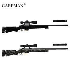 120cm m24 sniper rifle 1:1 modelo de papel 3d arma diy papercraft brinquedo para cosplay ornamento