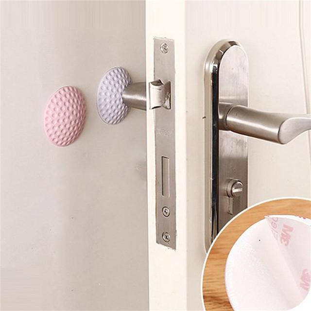 2018 New 2Pcs Rubber Home Door Doorknob Back Wall Protector Savior Crash Pad #NE808