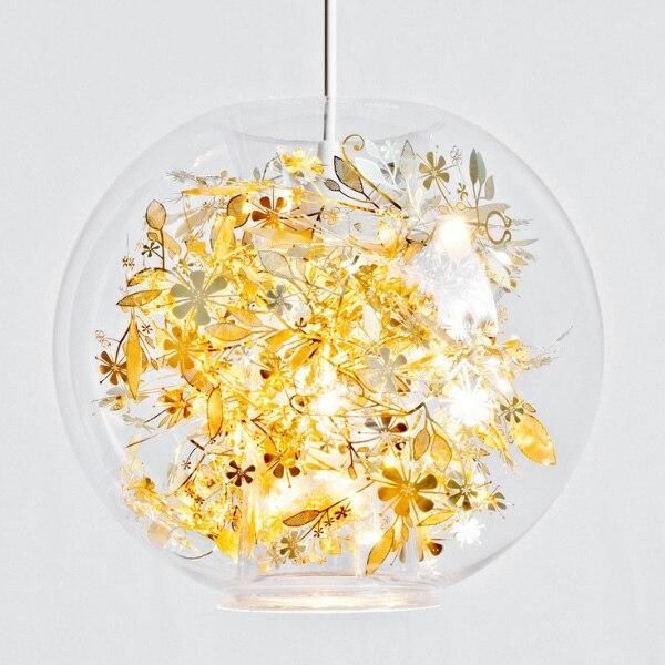 Glaskugel Lampen Rund Abendessen Schlafzimmer Lampe Kreative Kunst Wohnzimmer Restaurant Schne Pendelleuchten