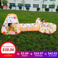 Kids Pool-Tube-Teepee Toy Tents Pop-up Children Crawling Pipeline Tunnel Huge Game Yard Cartoon Ball Pool Lodge Tent Toy 985-Q65