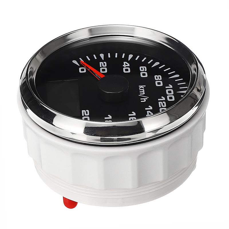 Utility 85mm GPS Speedometer 200km/h GPS Speedometer Gauge 9-32V Seven-color backlight Motorcycle Marine Boat Buggy 10