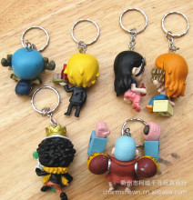 9pcs/set One Piece Zoro Frank Luffy Key Chain Toys