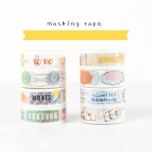 24 pcs/Lot  Label sticker instrument masking tape 15mm*7m washi for diary scrapbooking Stationery school supplies FJ179