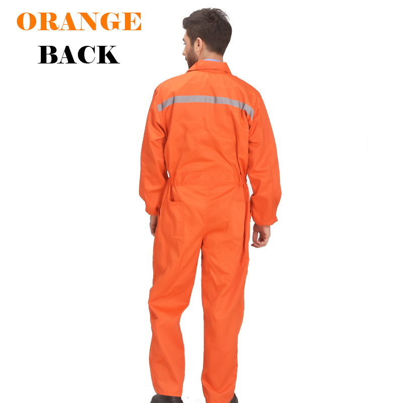 Image 5 - Mens White Orange Blue Reflective Workwear Work coverall strap jumps High Visibility Work Clothing Overalls Free Post-in Safety Clothing from Security & Protection