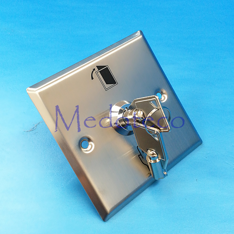 wholesale 10 pcs Square stainless steel exit button metal switch with emergency key Door release Button No/Nc/Com Contact 300mm multifunctional combination square ruler stainless steel horizontal removable square ruler angle square tools metal ruler