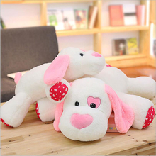 New Lovely Pink Ear Dog Soft Plush Toy Dog Stuffed Animal Doll Toys Plush Pillow Girls Birthday & Valentine's Day Gift 60 80cm large size lovely lying on front dog plush toys dog cloth doll pink purple dark red sleep pillow cushion girl birthday