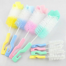 2Pc Baby Nipple Sponge Brush Bottle Brush Cleaner With Pacifier Brush #K4UE# Drop Ship