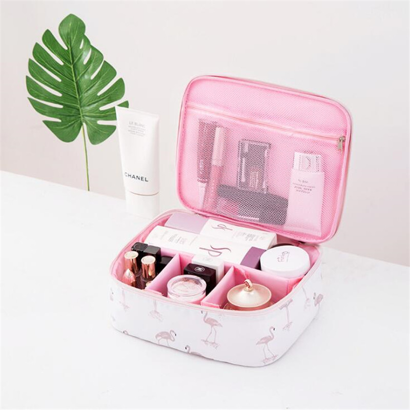 Women Travel Bag Fashion Packing Cubes Organizer Cosmetic Storage Printing Portable Consolidation Package