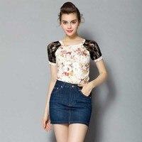2017 New Fashion Women S Sweet Half Length Denim Skirt High Waist Was Thin Cowboy Short