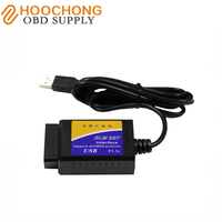 New Arrival USB ELM327 V1 5 OBD2 Code Reader With PIC18F25K80 Chip OBDII ELM 327 Adapter