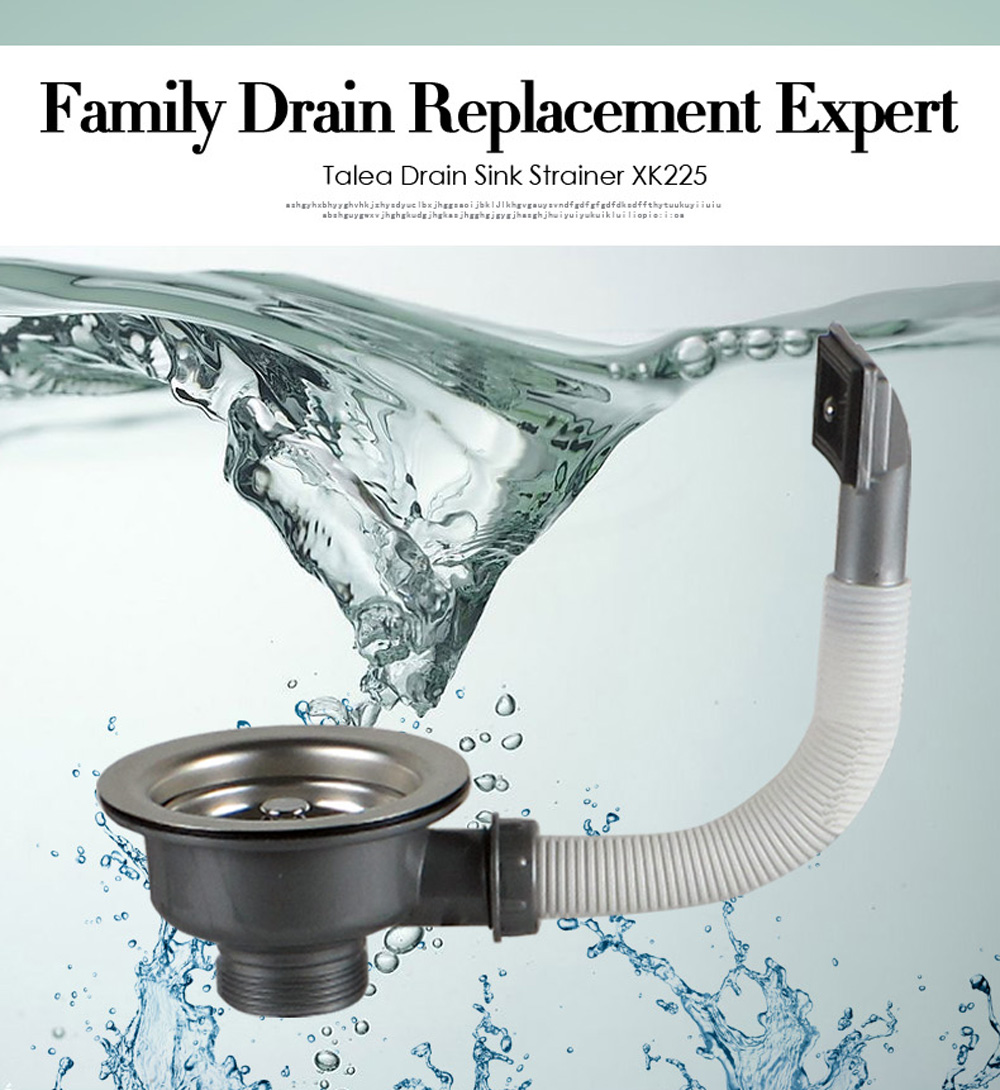 Talea Drain Waste with Overflow Stainless steel Sink drain strainer ...