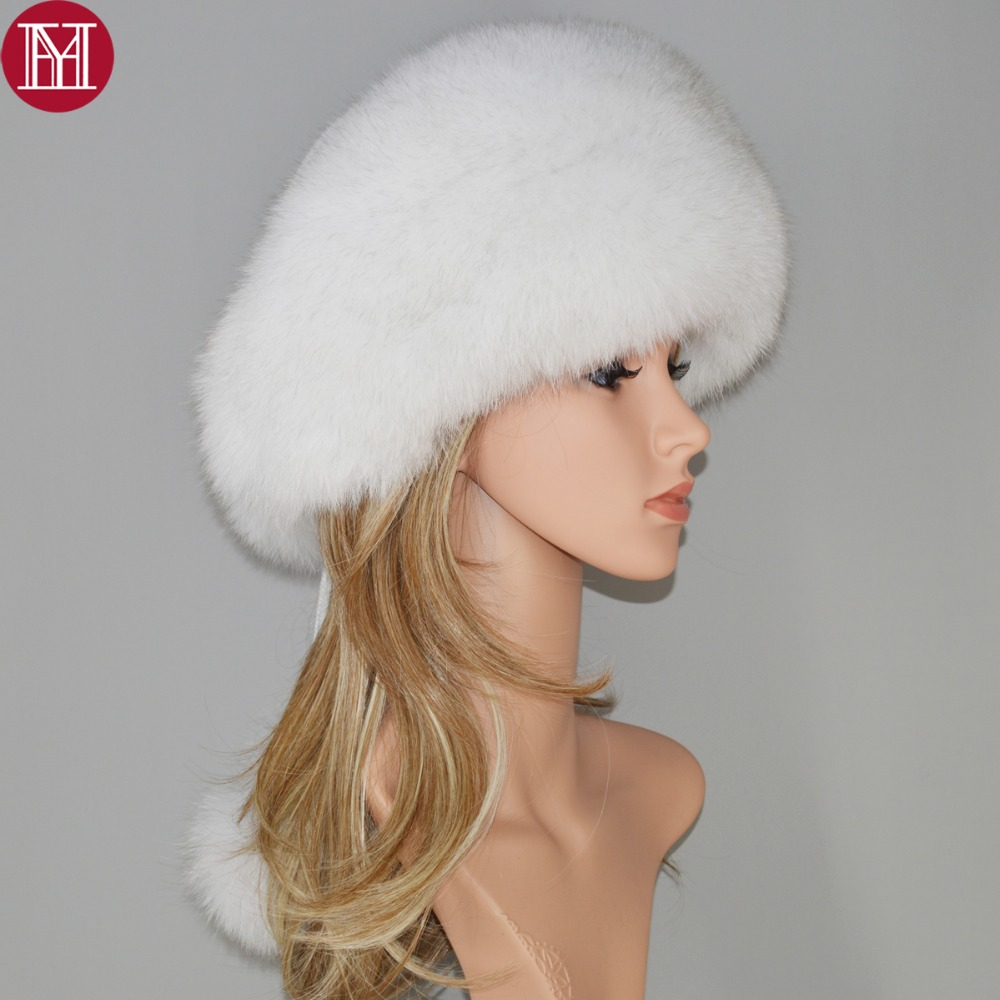 1faaa6639397c 2018 new style luxury winter Russian natural real fox fur hat women warm  hot sale good quality 100% genuine real fox fur cap-in Skullies   Beanies  from ...