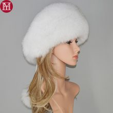 2538d7fb39a 2018 new style luxury winter Russian natural real fox fur hat women warm  hot sale good