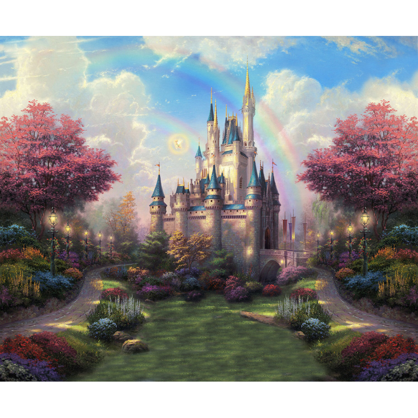 Photography Backdrops Photo Backgrounds Fairy Tale Wonderland Castle Newborn Child Wedding Baby studio props backdrop S-2716