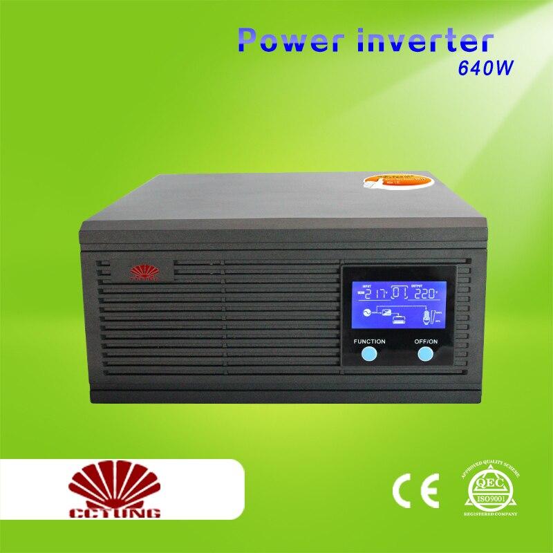 800VA 640W Power Inverter Home Inverter System 85 275VAC Input 110V 220V 230V 240VAC Pure Sine Wave Output with 12V 24V Battery