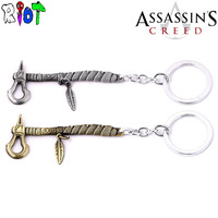 10 teile/los Assassins creed großhandel keychain 16 stil schlüsselanhänger schlüsselring vintage auto anhänger schlüsselring männer schmuck für fans geschenk