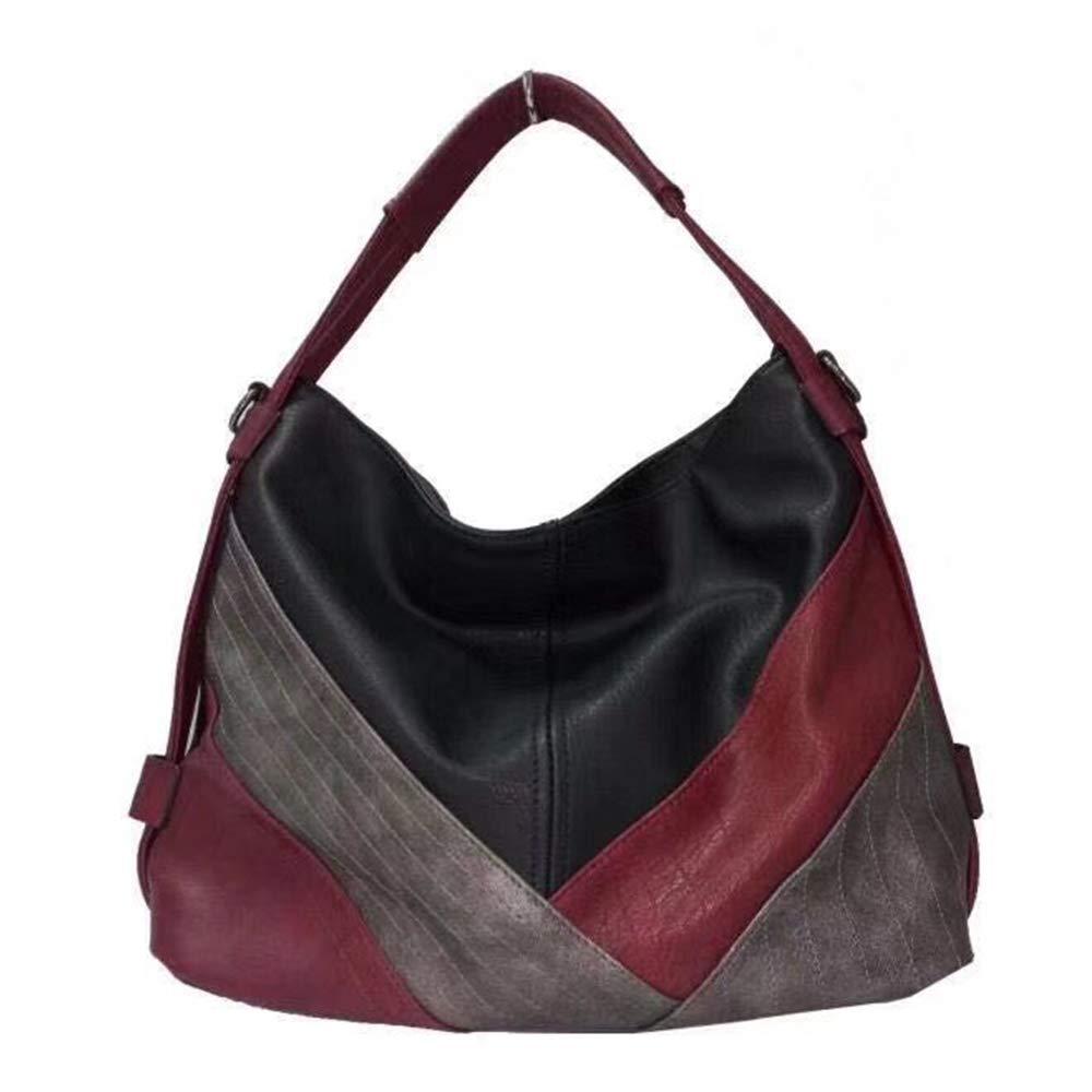 Hobo Women Bag Multicolor Handbag Patchwork Leather Shoulder Totes